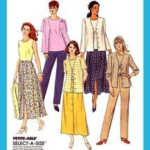 153 Womens Top, Skirt, Pull On Pants, Jacket, Sz 10 12 14, Easy Pattern Uncut - $5.95