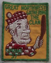 1957 Spring Great Northwest Gathering The Clan Boy Scouts Patch - $12.00