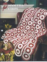 Poinsettia Strips Afghan Crochet Pattern~Dated 2000 - $3.99