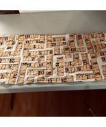 Older Sewing Work Apron w Ruler Design 5 Pockets Wrap-around Style C88 - $19.80