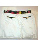 NWT Womens 0 Dolce & Gabbana White Pants 2 Floral Capris 38 - $279.99