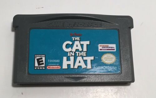 THE CAT IN THE HAT - NINTENDO GAMEBOY ADVANCE GBA VIDEO GAME GP2006978 CARTRIDGE