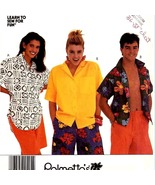 205 EASY VINTAGE MEN & WOMENS SHIRT 10-12 LEARN TO SEW FOR FUN PATTERN UNCUT - $4.95