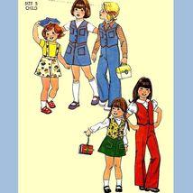 209 Childs Vintage Vest, Skirt & Pants Detachable Suspenders Sz 5 Sewing Pattern - $5.45