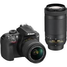 Nikon D3400 24.2MP Digital DSLR Camera + 18-55mm Lenses CMOS Sensor EXPEED - $583.11