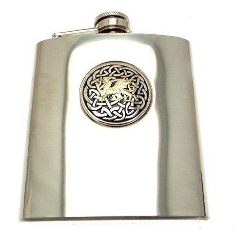 Primary image for Hip Flask Gifts Hip Flasks for Men Novelty Hip Flasks Welsh Dragon Welsh Gifts