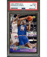 1992 UPPER DECK #424 SHAQUILLE O'NEAL (RC) ROOKIE CARD- PSA 8 NM-MT - $19.75