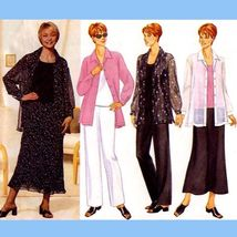 237 WOMENS LOOSE FIT SHIRT, TANK TOP, SKIRT, PANTS sz 8 to 12 SEW PATTER... - $6.95