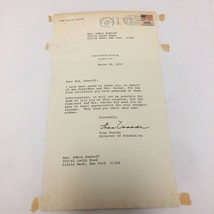 President Jimmy Carter Fran Voorde Signed Letter 1977 Director of Schedu... - $49.49