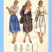 267 WOMENS A-LINE DIRNDL SKIRT & SHAWL, size 14, VINTAGE SEWING PATTERN - $3.95