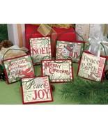 Christmas Sayings Ornaments Set 6 Kit counted c... - $19.80