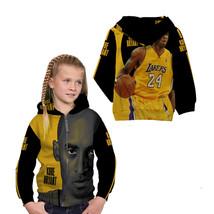Kobe Bryant Basketball Legend Zipper Hoodie For Girls Kids - $36.99+