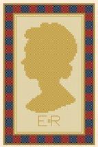 Elizabeth Regina Queen Elizabeth silouette PDF cross stitch chart John Shirley  - $5.00