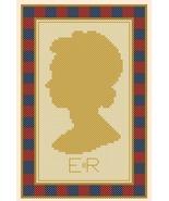Elizabeth Regina Queen Elizabeth silouette PDF cross stitch chart John S... - $5.00