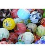 6mm Round MIX Millefiori Glass Beads - Qty 50 - $3.25
