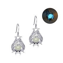 925 Sterling Silver Earrings Bat Animal Growing  Drop Earrings for Women... - €20,32 EUR