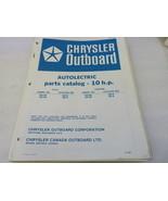 PM69 Chrysler Outboard Motor 10 HP Parts Catalog Manual P/N OB-1961 - $10.59