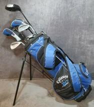 Callaway XJ Series Blue Junior Golf Bag 6 Right Hand Clubs & Balls Preowned USA  - $199.99