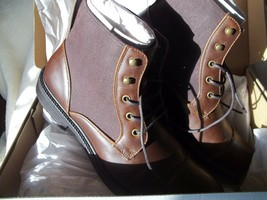 Kenneth Cole Unlisted Roll Boot B - Brown 11 Med - New With Flub - LPAPLPAP18545 - $24.75