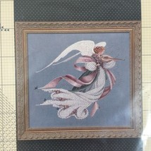 Vintage Lavender & Lace Victorian Design Angel of Spring Cross stitch ch... - $12.59