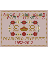 Queen Elizabeth Jubilee Sampler PDF cross stitch chart John Shirley new ... - $5.00