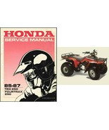 85-87 Honda TRX250 Fourtrax 250 Service Repair Workshop Manual CD - TRX 250 - $12.00