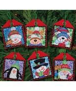 Christmas Pals Ornaments Set 6 Kit counted cros... - $19.80