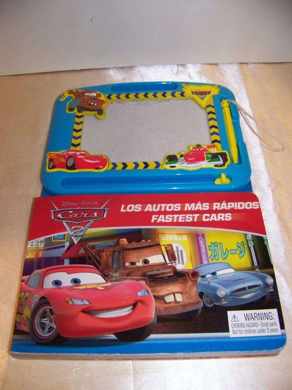 Primary image for Disney Pixar Cars 2 Bi-Lingual Book with doodle pad Lightning McQueen