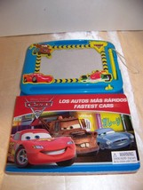Disney Pixar Cars 2 Bi-Lingual Book with doodle pad Lightning McQueen  - $5.32