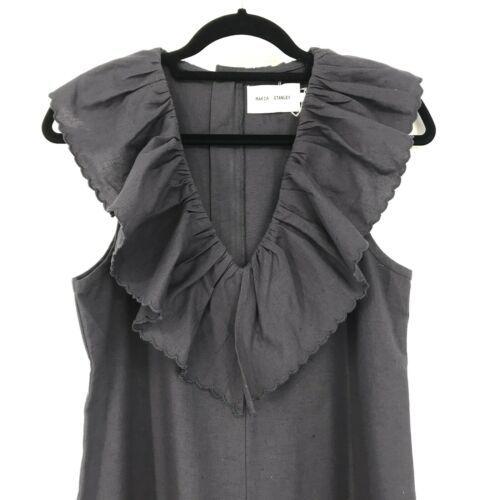 Anthropologie Maria Stanley Womens Sz S Cascada Jumpsuit Gray Cotton NEW $349