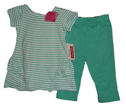 Toddler Girls 2T Striped Top and Pant Set - $13.00