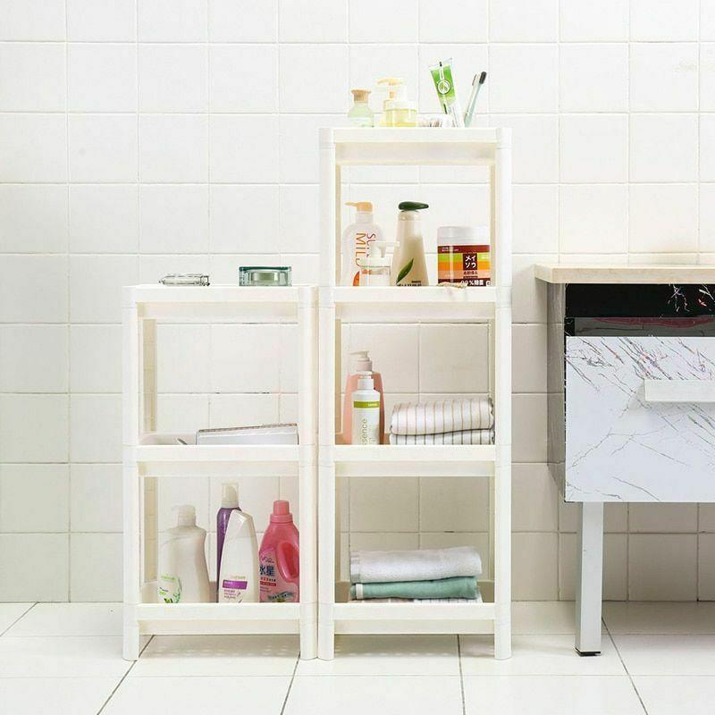 Rack Shelf Kitchen Side Plastic Storage Shelves Multi Functional House Organizer image 4