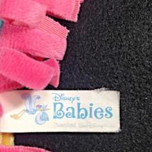 Disneyland Disney Babies Blanket for Dumbo Plush Blue Pink Yellow Fringe Wrap image 2