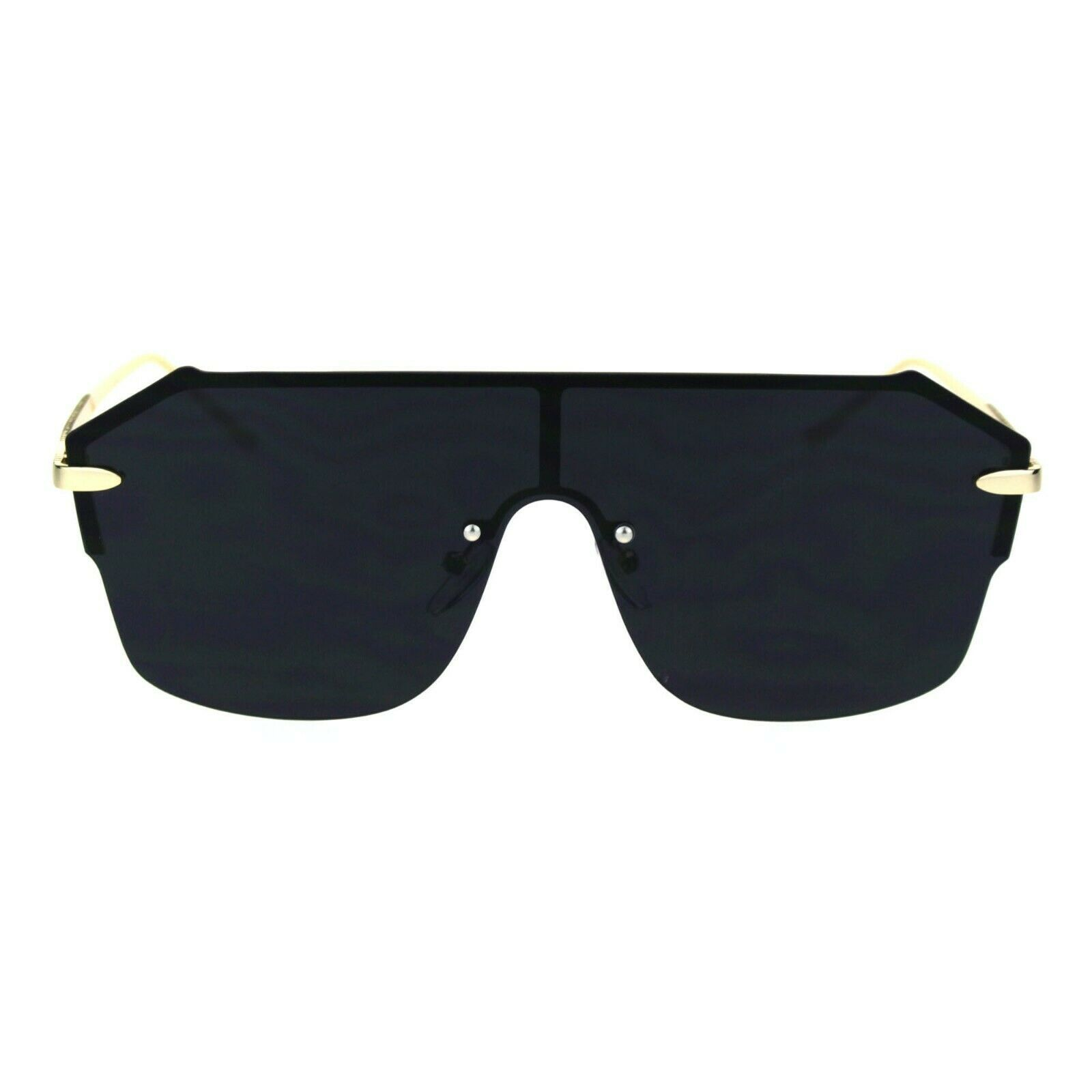 Womens Rimless Style Sunglasses Trendy Chic Mono Lens Shades UV 400