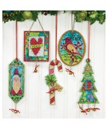 Jingle Bell Ornaments Set 5 Kit counted cross s... - $19.80