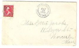 1895 North Grosvenordale CT Vintage Post Office Postal Cover - $9.95