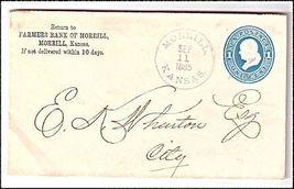 1885 Morrill KS Vintage Post Office Postal Cover - $9.95