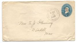 1897 East Northfield MA Discontinued/Defunct (DPO) Post Office Postal Cover image 1