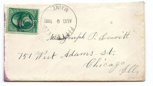 1881 Pittsfield ME Vintage Post Office Postal Cover