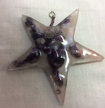 Women Murano Glass Pendant Starfish Design Different Tones Of Purple. - $6.50