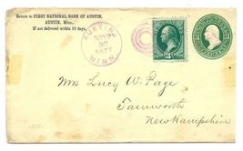 1877 Austin MN Vintage Post Office Postal Cover - $9.95