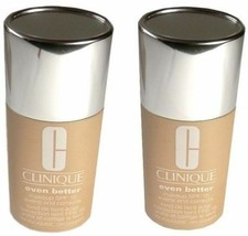 2 pc Lot CLINIQUE Foundation 29 Latte Even Better Evens & Correct Makeup - $18.93