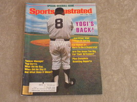 Baseball issue Sports Illustrated April 1984 Yogi Berra, NY Yankees, Cal... - $8.99