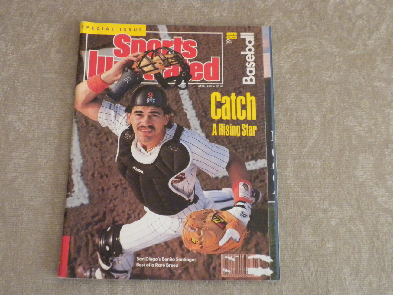 Primary image for Baseball Sports Illustrated April 1989 Benito Santiago, Andy Van Slyke, Uniforms