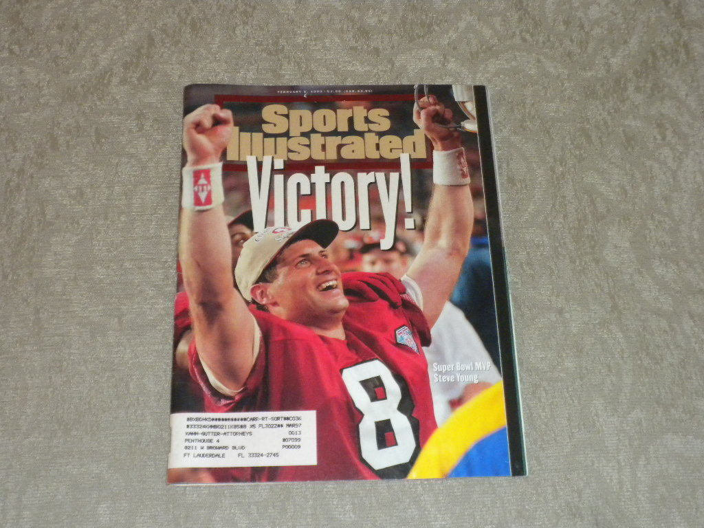 Primary image for Sports Illustrated Feb 1995 Steve Young Super Bowl, Ut Jazz, Mary Pierce, NASCAR