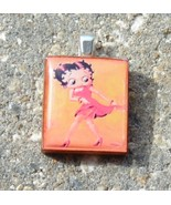 Scrabble Wood Wooden Tile Pendant Handcrafted Jewelry Red Dress Betty Boop - $3.00