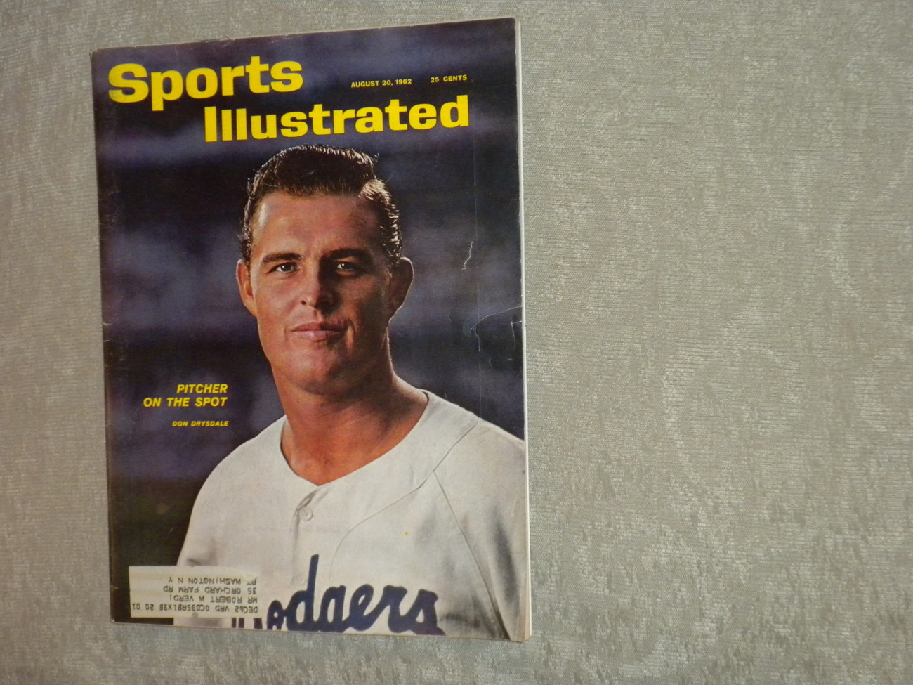 Primary image for Don Drysdale LA Dodgers Sports Illustrated Aug 1962 Men's Fashion, Chess, Motor