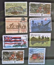 United States Set of 8 Stamps -used cancelled- Free Shipping  Lot  3037 - $1.68