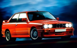 1986 BMW E-30 (red) POSTER 24 X 36 INCH - $18.99