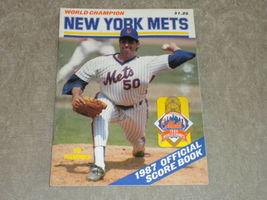 1987 New York Mets Scorebook Sid Fernandez, Tim Teufel, HoJo, Stottlemyr... - $5.93